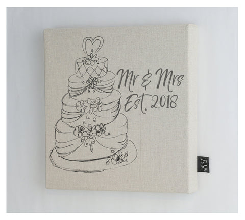 Wedding cake est 2018 canvas Frame