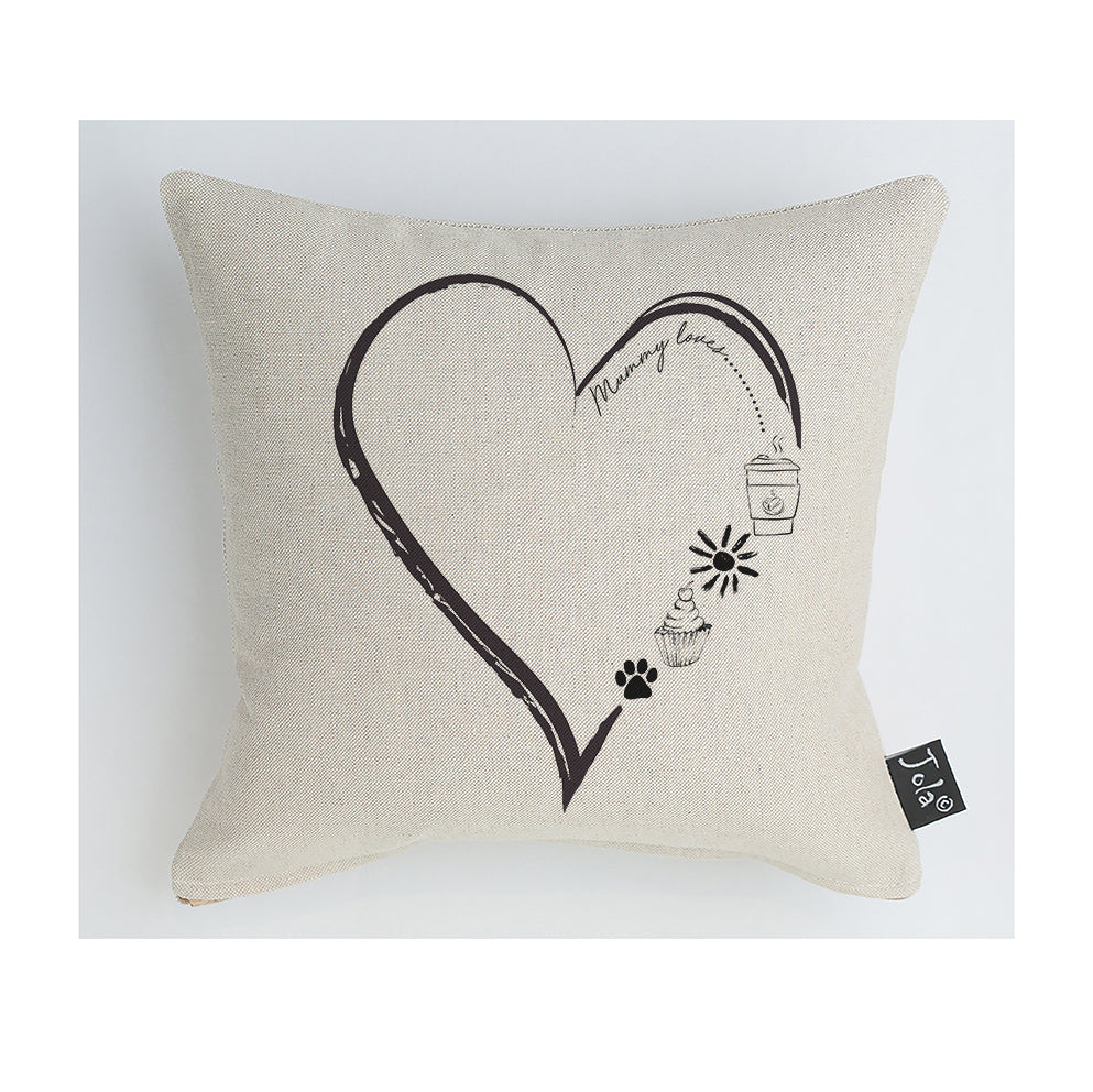 Mummy's Favourites Heart Cushion
