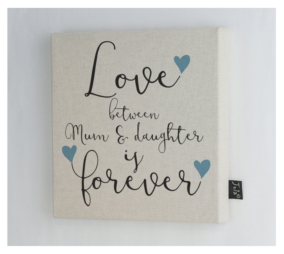 Mum and Daughter Forever Canvas