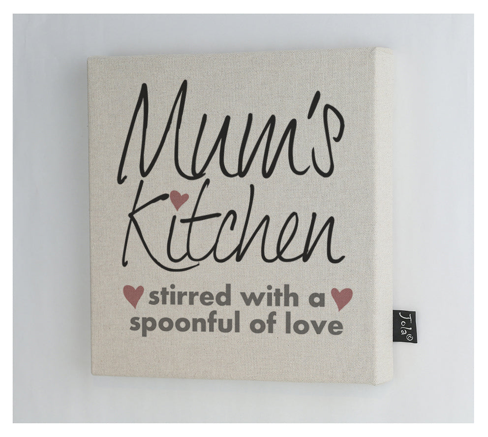Mum's Kitchen love Canvas Frame