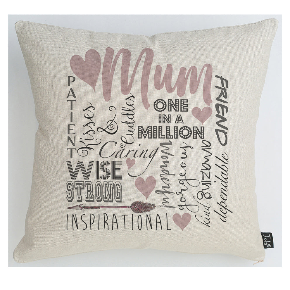 Mum's the word Cushion Pink