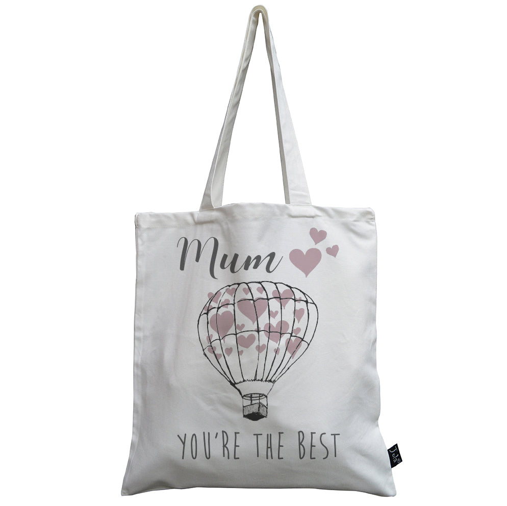 Ballon Heart Mum your the best canvas bag