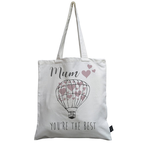 Balloon Heart Mum you're the best canvas bag