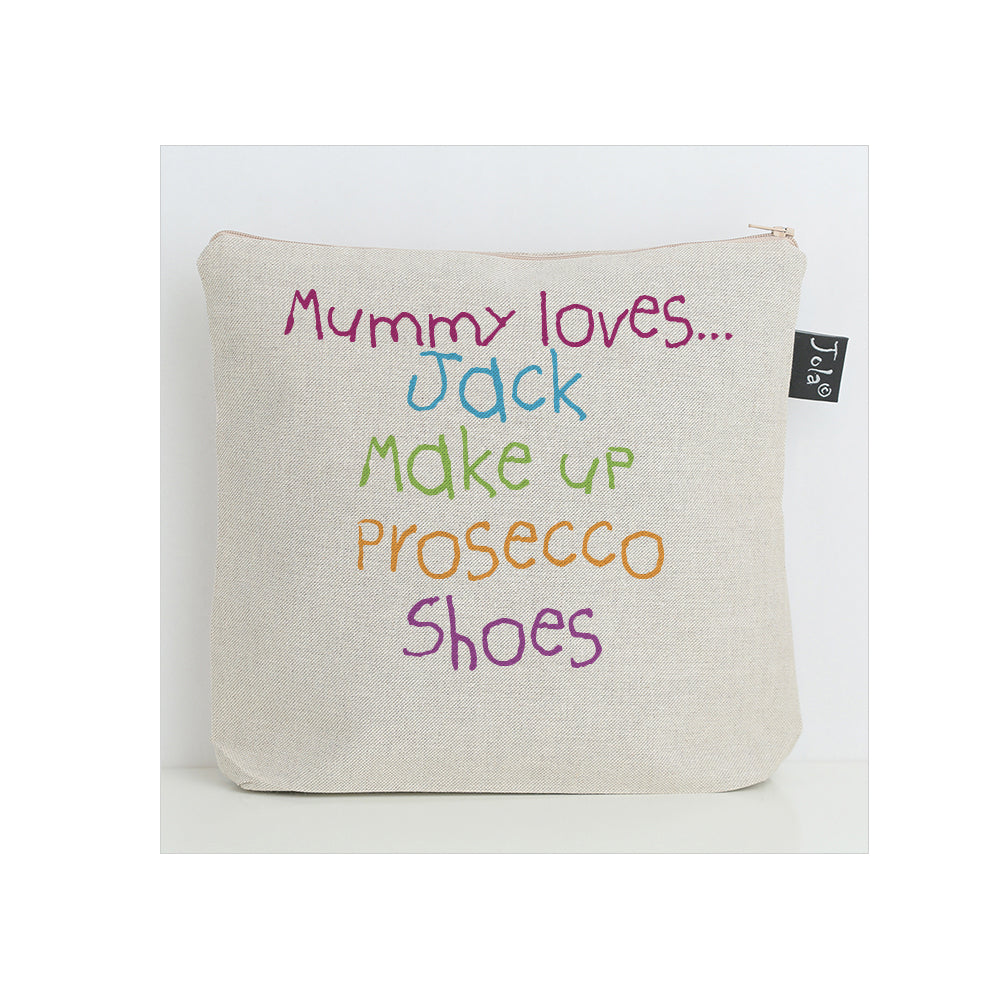 Personalised Mummy Loves Wash bag