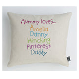 Personalised Mummy Loves cushion