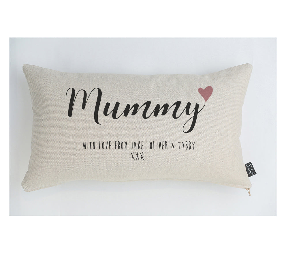 Personalised Mummy with love Cushion