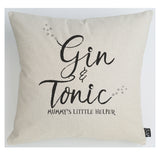 Gin Mummy's little helper cushion