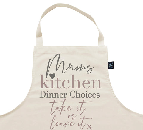 Mum's Kitchen Dinner Choices Apron