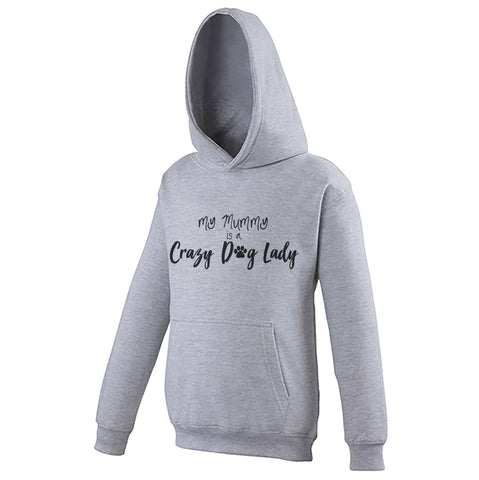 Cotton Toddler Hoodie My Mummy is a Crazy Dog Lady