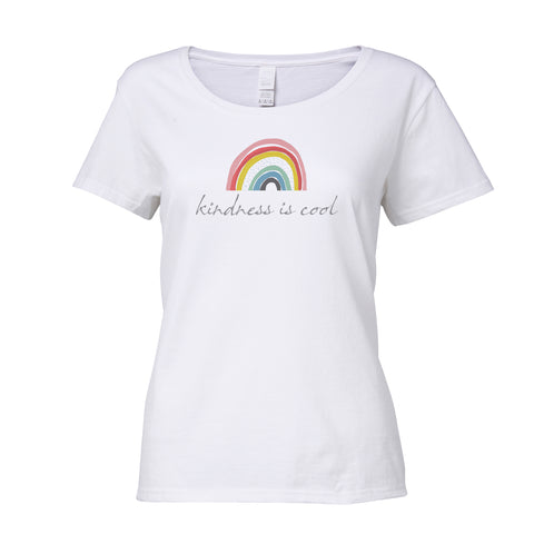 Cotton T Shirt Rainbow Kindness is cool