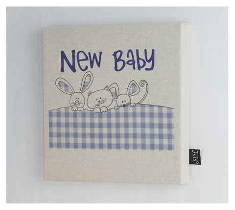 Gingham Bunnies Canvas Frame