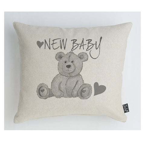 Teddy New Baby Cushion
