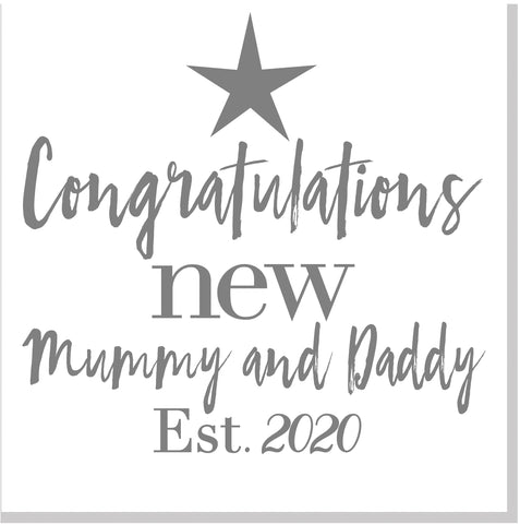 Congratulations New Mummy and Daddy square card