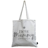 New Mummy winging it grey canvas bag