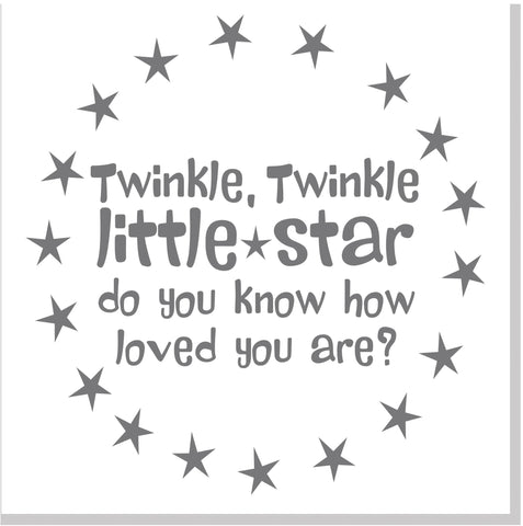 Twinkle Little Star square card