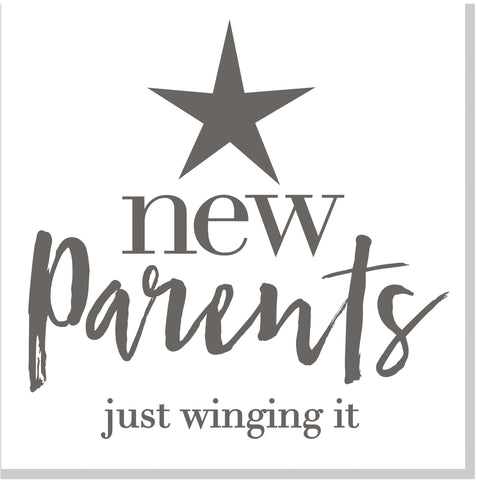 New Parents Winging It square card