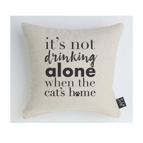 Not drinking alone Cat Midi Cushion