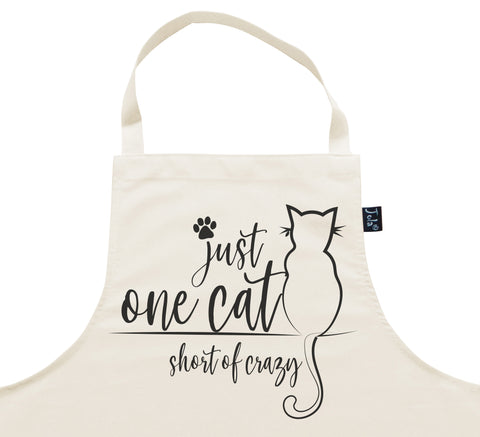 One cat short of crazy Apron