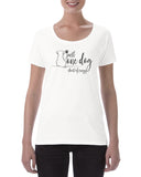 Cotton Ladies T Shirt One dog short of crazy