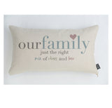 Our Family pastel cushion