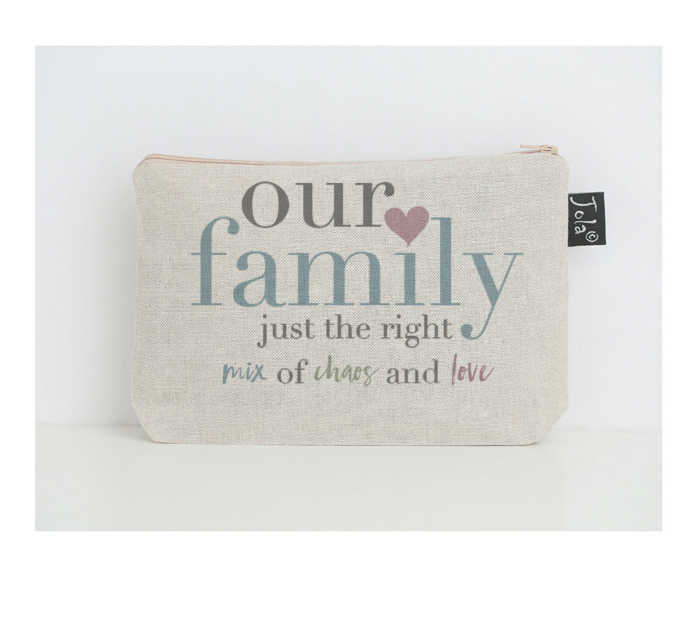 Our Family Pastel small make up bag