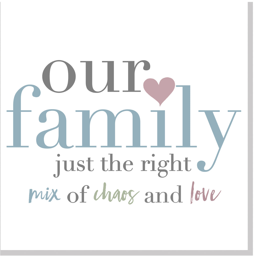 Our Family square card