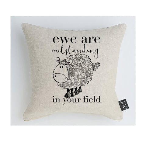 Ewe are outstanding in your field Cushion
