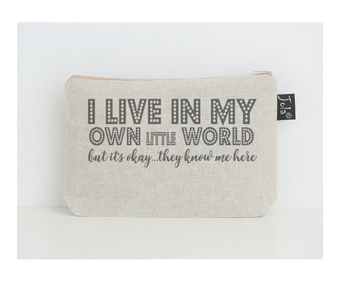 My own little world small make up bag