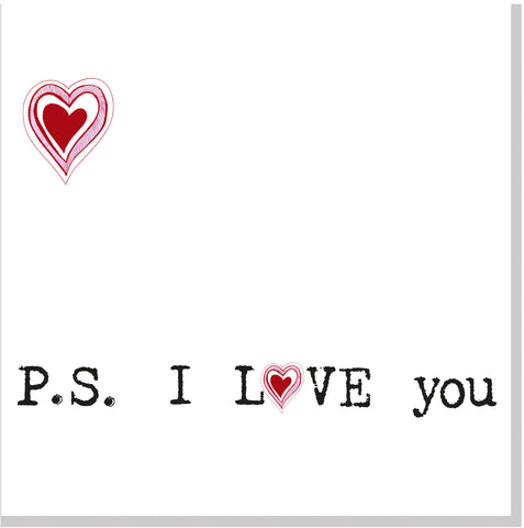 P.S I Love you square card