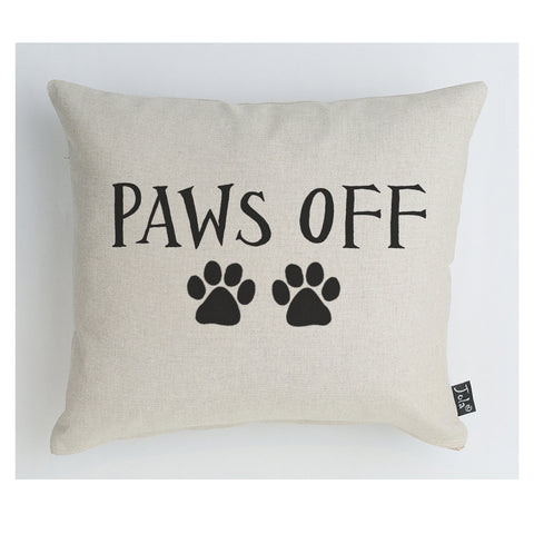 Paws off boudoir cushion
