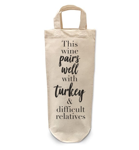 This wine pairs with Turkey Bottle Bag