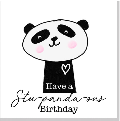 Panda Stupandous Happy Birthday square card