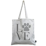 Paw Print LOVE canvas bag