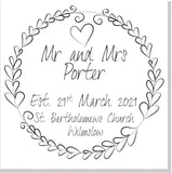 Personalised Wedding square card