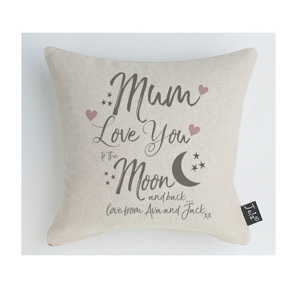 Mum Love You To The Moon & Back Cushion/Personalise