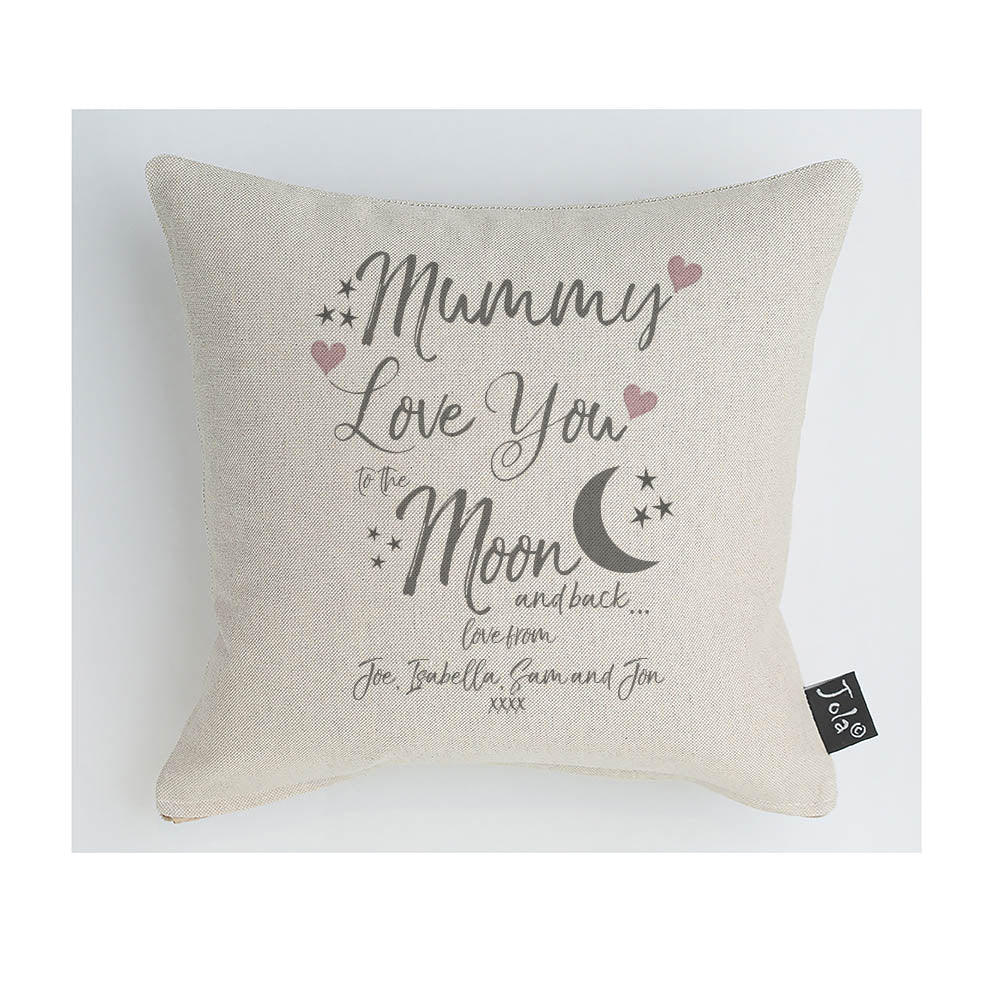 Mummy Love You To The Moon & Back Cushion/Personalise
