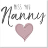 Personalised Miss you Blush heart square card
