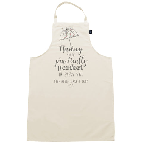 Personalised Practically Perfect Apron