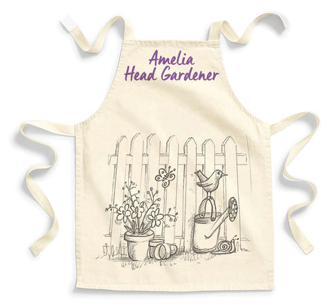 Personalised Amelia Head Gardener Childs Apron