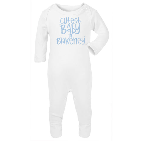 Personalised Cutest Baby Babygrow