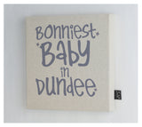 Personalised Bonniest Baby canvas frame