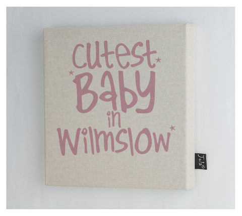 Personalised Cutest Baby canvas frame