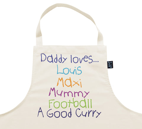 Personalised Daddy Loves Apron