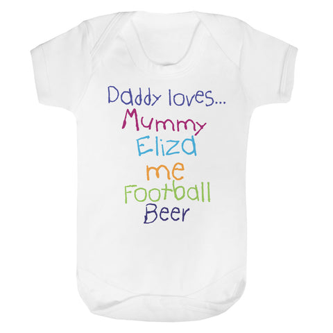 Personalised Daddy Loves Baby Vest