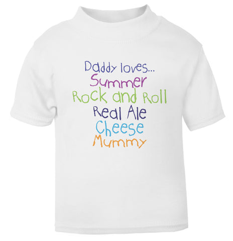 Personalised Daddy Loves T Shirt