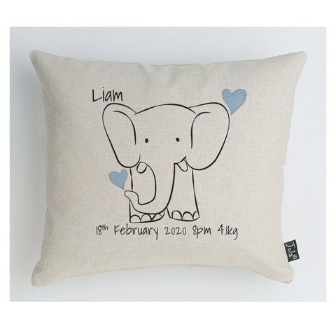 Personalised Baby Elephant Cushion