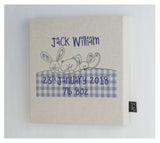 Personalised Gingham Baby canvas frame