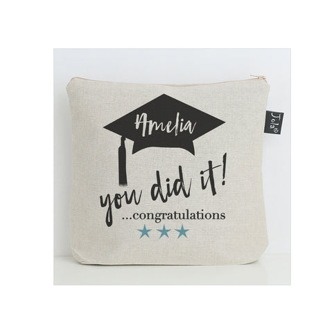 Personalised You did it washbag