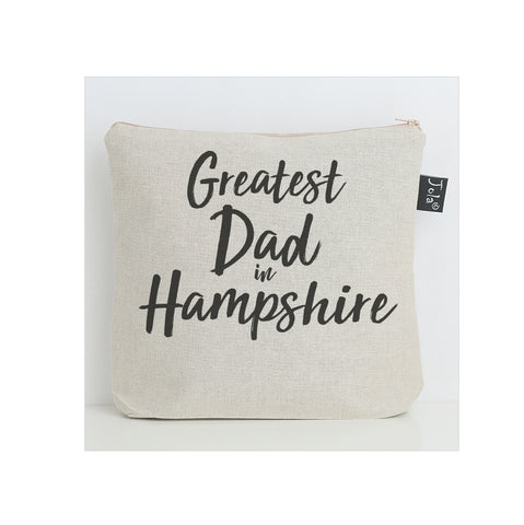 Personalised Greatest Dad city wash bag