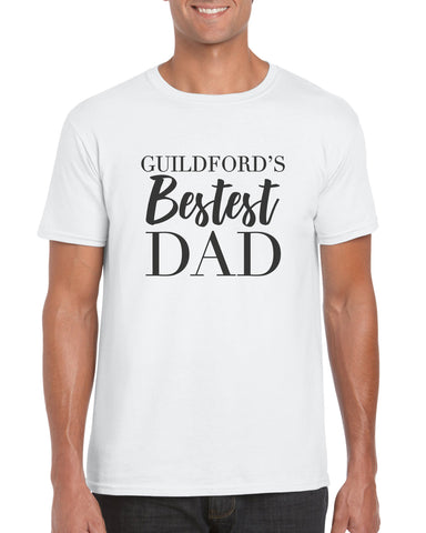 Personalised Cotton T Shirt Bestest Dad City